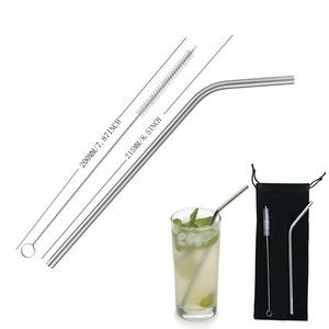 Re-usable Curving Stainless Steel Drinking Straw