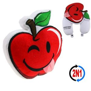 Silly Apple 2N1 Convertible Plush Cushion & Neck Pillow