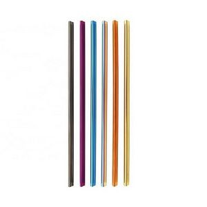 Colorful Heart Shape Stainless Steel Straw