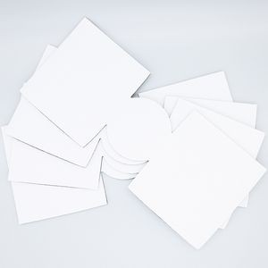Unsewn White Collapsible Coolies For Sublimation Printing - Pack Of 10pcs